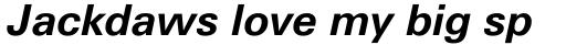 Utah WGL Bold Italic sample