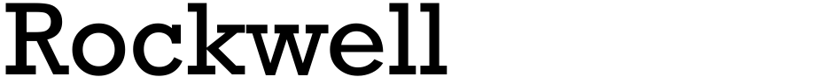 Click to view  Rockwell font, character set and sample text