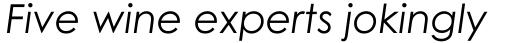 Century Gothic Italic sample