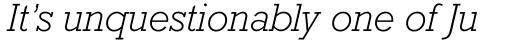 Rockwell WGL Light Italic sample