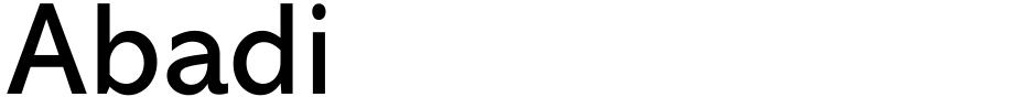 Click to view  Abadi font, character set and sample text