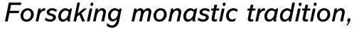 Abadi Std Italic sample