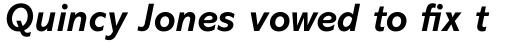 Abadi Pro Bold Italic sample
