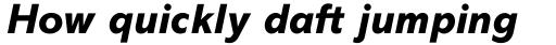 Abadi Pro Extra Bold Italic sample