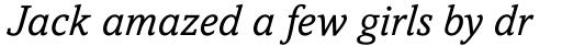 Amasis Std Italic sample