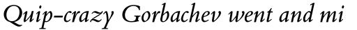 Bembo Book Pro Italic sample