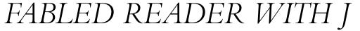 Bembo Std Titling Italic sample