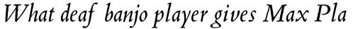 Blado Std Italic sample