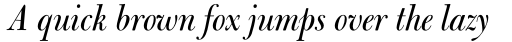 Bulmer Std Display Italic sample