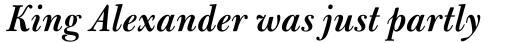 Bulmer Std SemiBold Italic sample