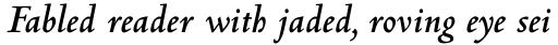 Centaur Std Bold Italic sample