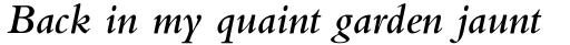 Bembo Pro Semibold Italic sample