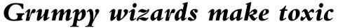 Bembo Pro Extra Bold Italic sample