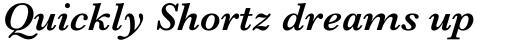 Baskerville Pro SemiBold Italic sample