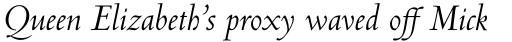 Centaur Pro Italic sample