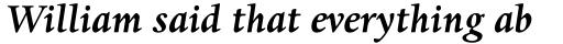 Dante Pro Bold Italic sample