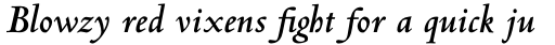Centaur Pro Bold Italic sample