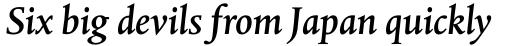 Albertina Pro Medium Italic sample