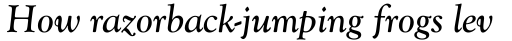 Monotype Goudy Catalogue Pro Italic sample