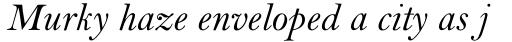 Bell Pro Italic sample