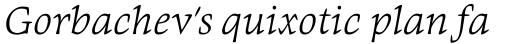 Givens Antiqua Pro Light Italic sample