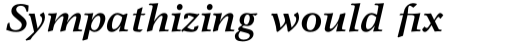 Garth Graphic Pro Bold Italic sample