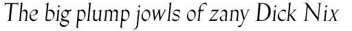 Gill Facia Std Italic Display sample
