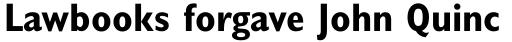 Gill Sans Pro Condensed Bold sample