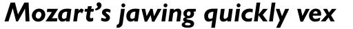 Gill Sans Pro Bold Italic sample