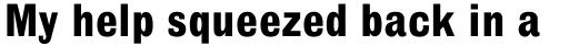 Headline Std Bold sample