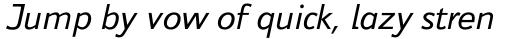 Jeunesse Sans Std Italic sample