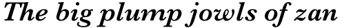 Baskerville Std SemiBold Italic sample