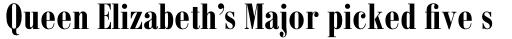 Monotype Bodoni Std Bold Condensed sample