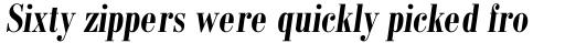 Monotype Bodoni Std Bold Condensed Italic sample