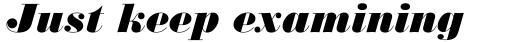 Monotype Bodoni Std Ultra Bold Italic sample