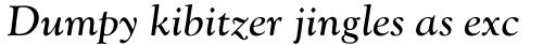 Monotype Goudy Catalogue Std Italic sample