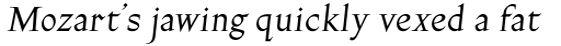 Gill Facia Pro Italic sample