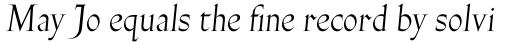 Gill Facia Pro Titling Italic sample