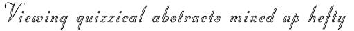 Stuyvesant Engraved  sample