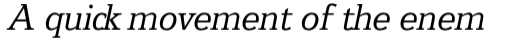 Jeunesse Slab Pro Italic sample