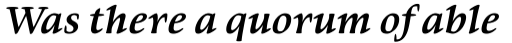 Givens Antiqua Std Bold Italic sample
