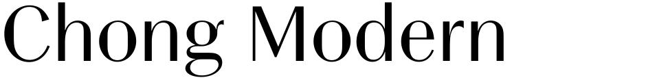 Click to view  Chong Modern font, character set and sample text