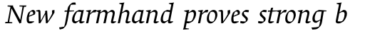 Alisal Pro Italic sample