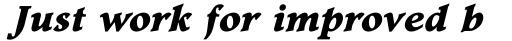 Footlight Pro Extra Bold Italic sample