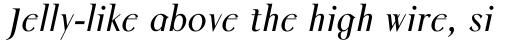 Colmcille Pro Italic sample