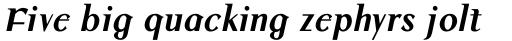 Colmcille Pro Bold Italic sample
