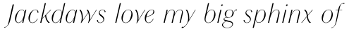 Chong Modern Pro Light Italic sample