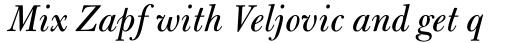 Bulmer Pro Italic sample