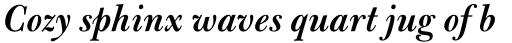 Bulmer Pro SemiBold Italic sample