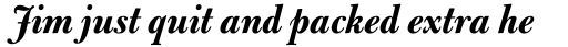 Bulmer Pro Display Bold Italic sample